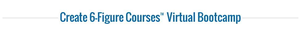 Create 6 Figure Courses